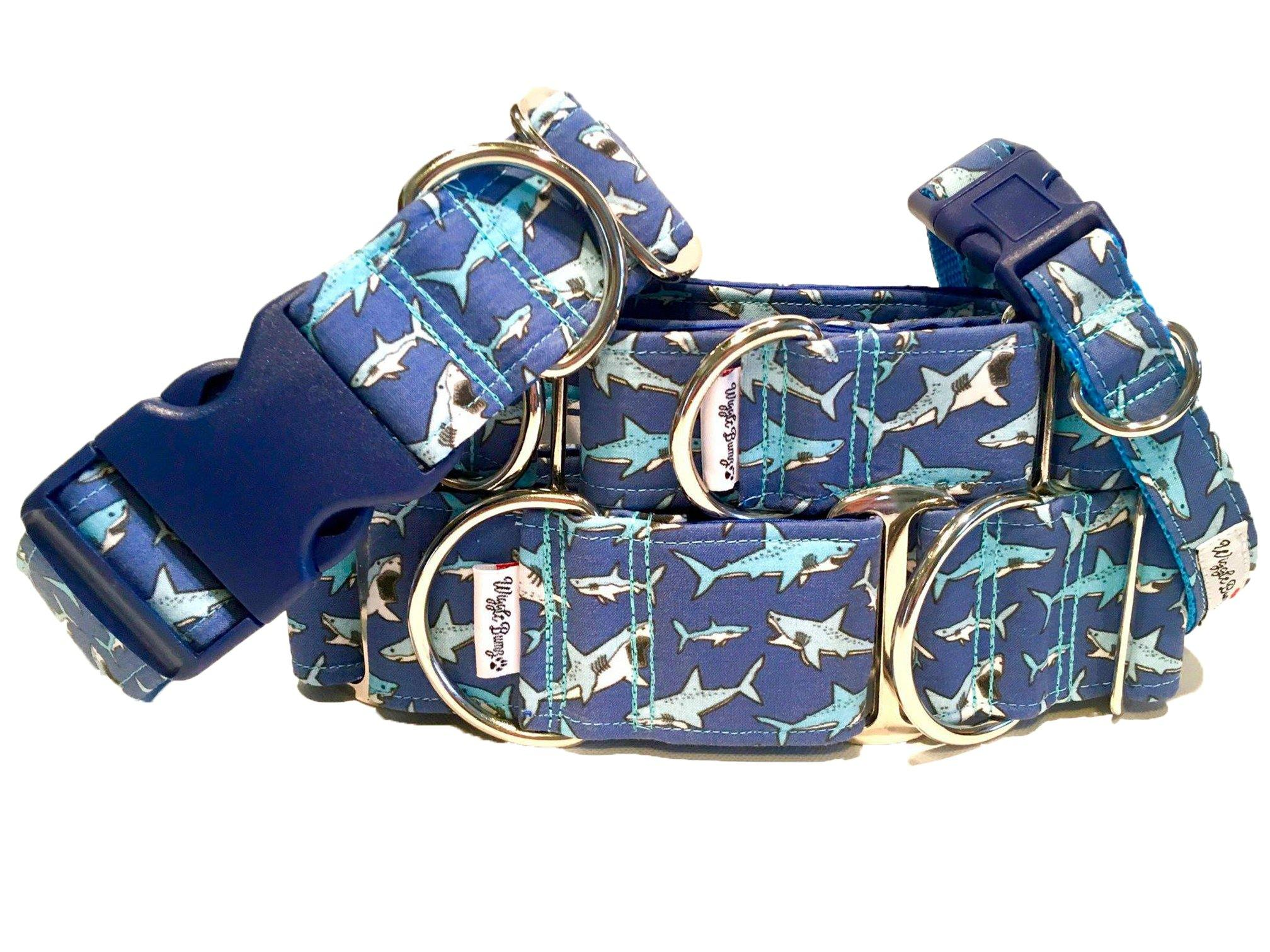 WiggleBumz Swimming Sharks Dog Collar | BigPawShop.ca