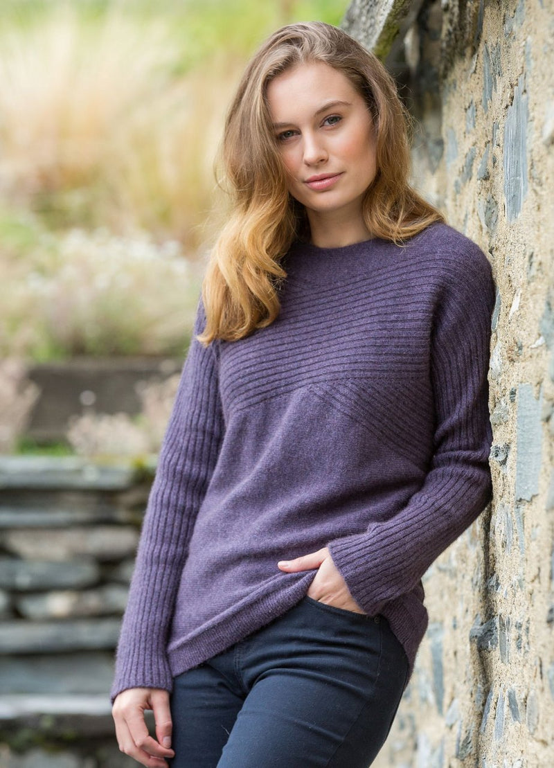 Merino Possum Womens Cross Over Crew