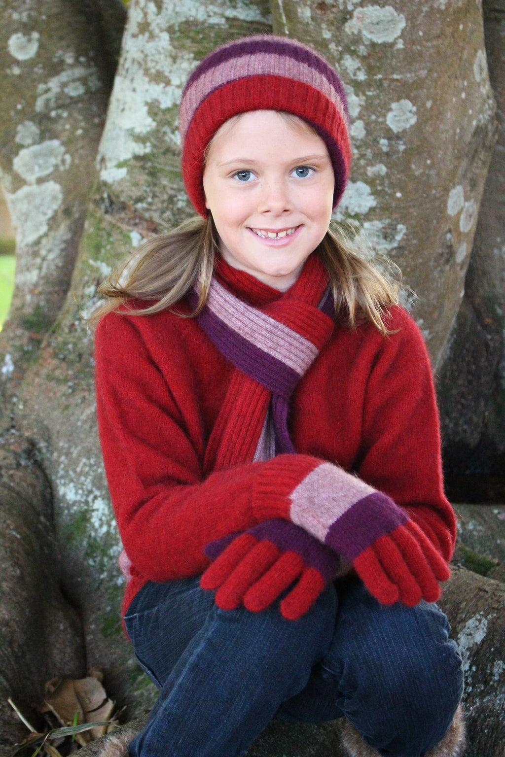 Merino Possum Cosy Kids Child's Stripe Scarf
