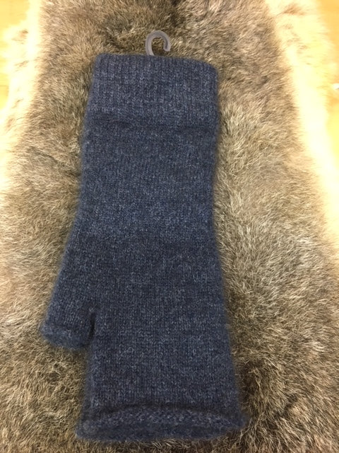 Merino Possum Fingerless Mittens in plain colours