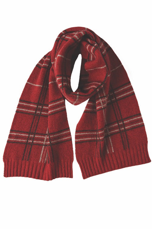 Merino Possum Broad Check Scarf