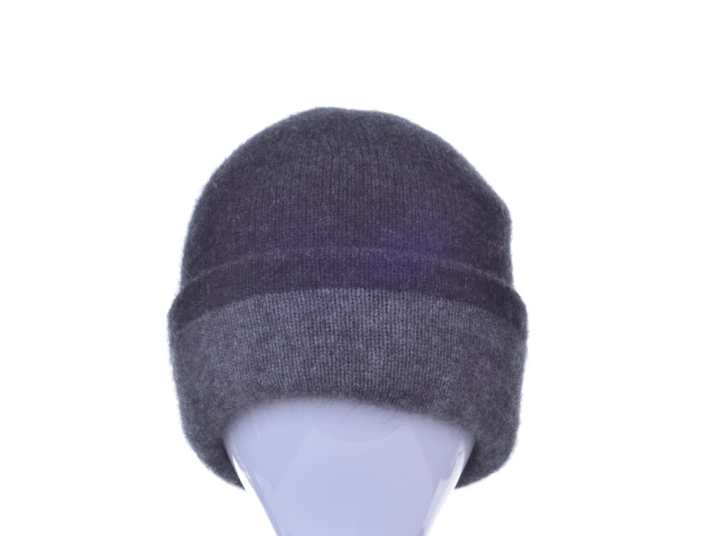 Merino Possum Two Toned Reversible Beanie