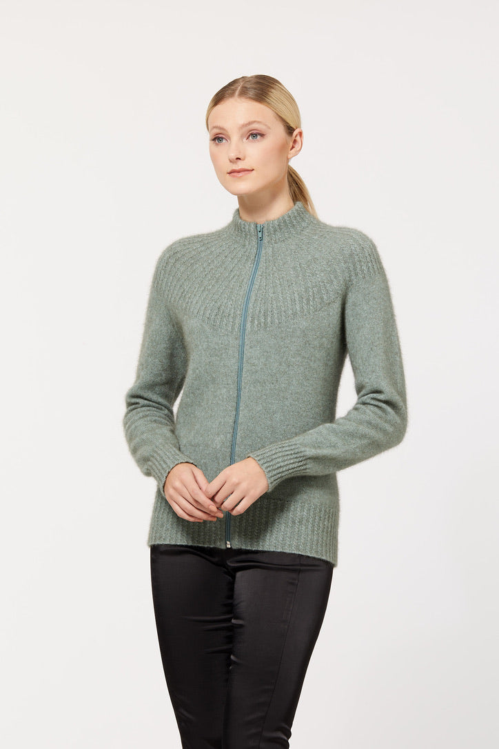 Merino Possum Yoke Neck Cable Jacket