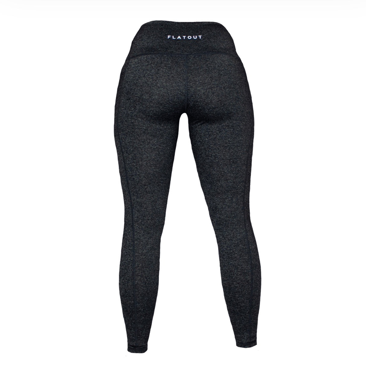 Flat Out- Mesh Leggings- Charcoal