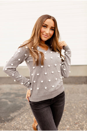 & Ave- The Taylor Sweater- Grey