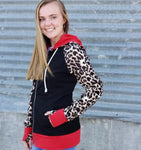 Black, Leopard & Red Full Zip