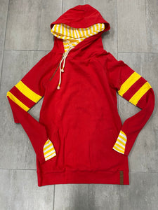 & Ave- EXCLUSIVE- Red & Yellow Varsity Stripe