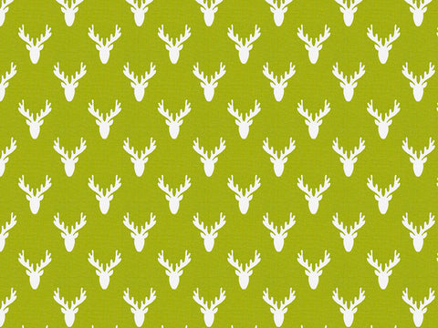 Antlers Chartreuse Kids Curtains