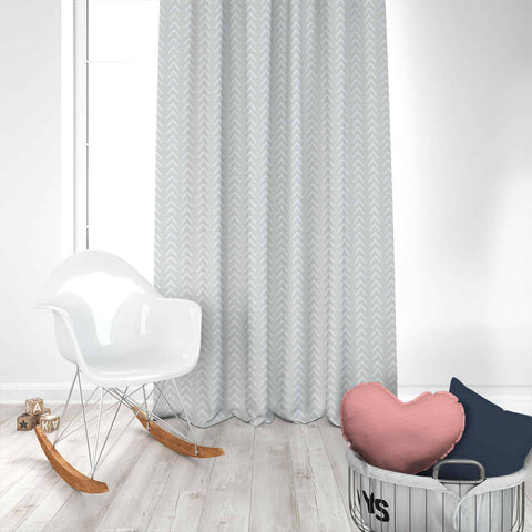Boho French Grey Kids Curtains