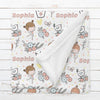 Personalized Ballerina Blanket for Babies, Toddlers and Kids - After the Dance