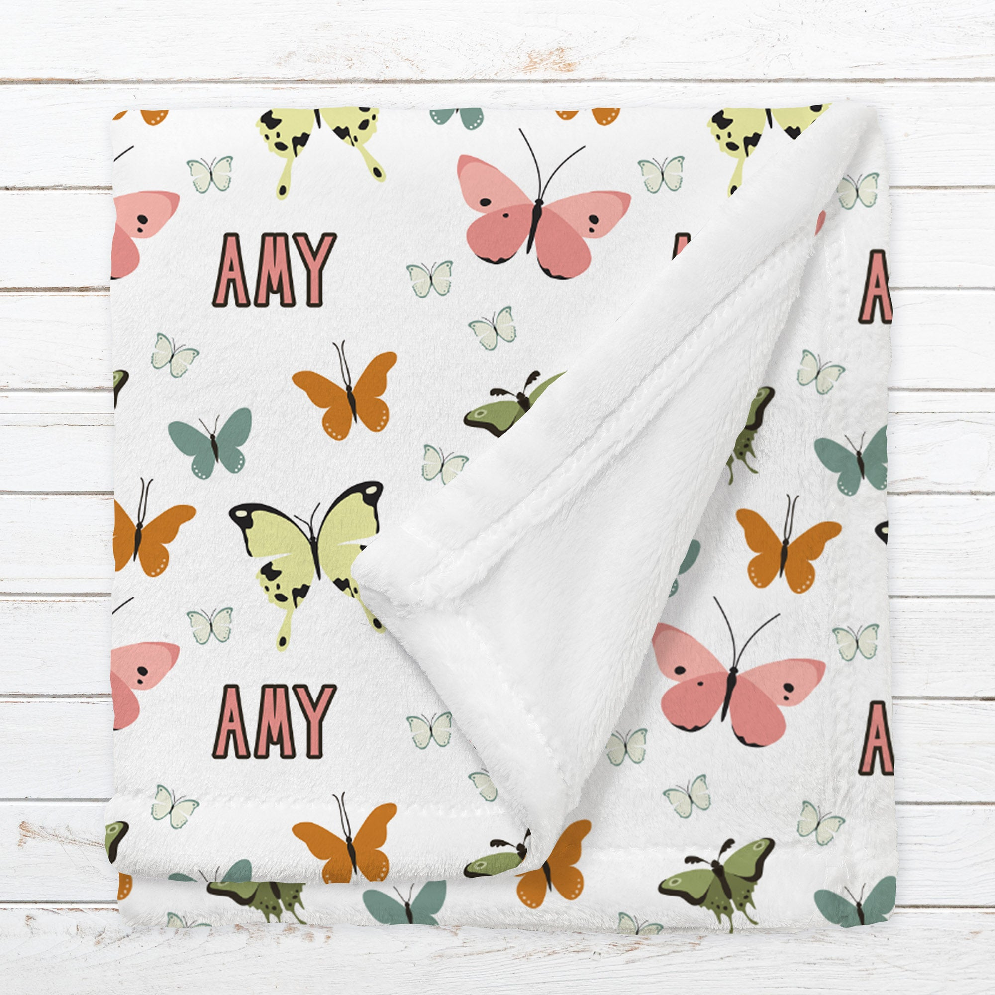 Personalized Butterfly Blanket for Babies, Toddlers and Kids - Field of Beauty