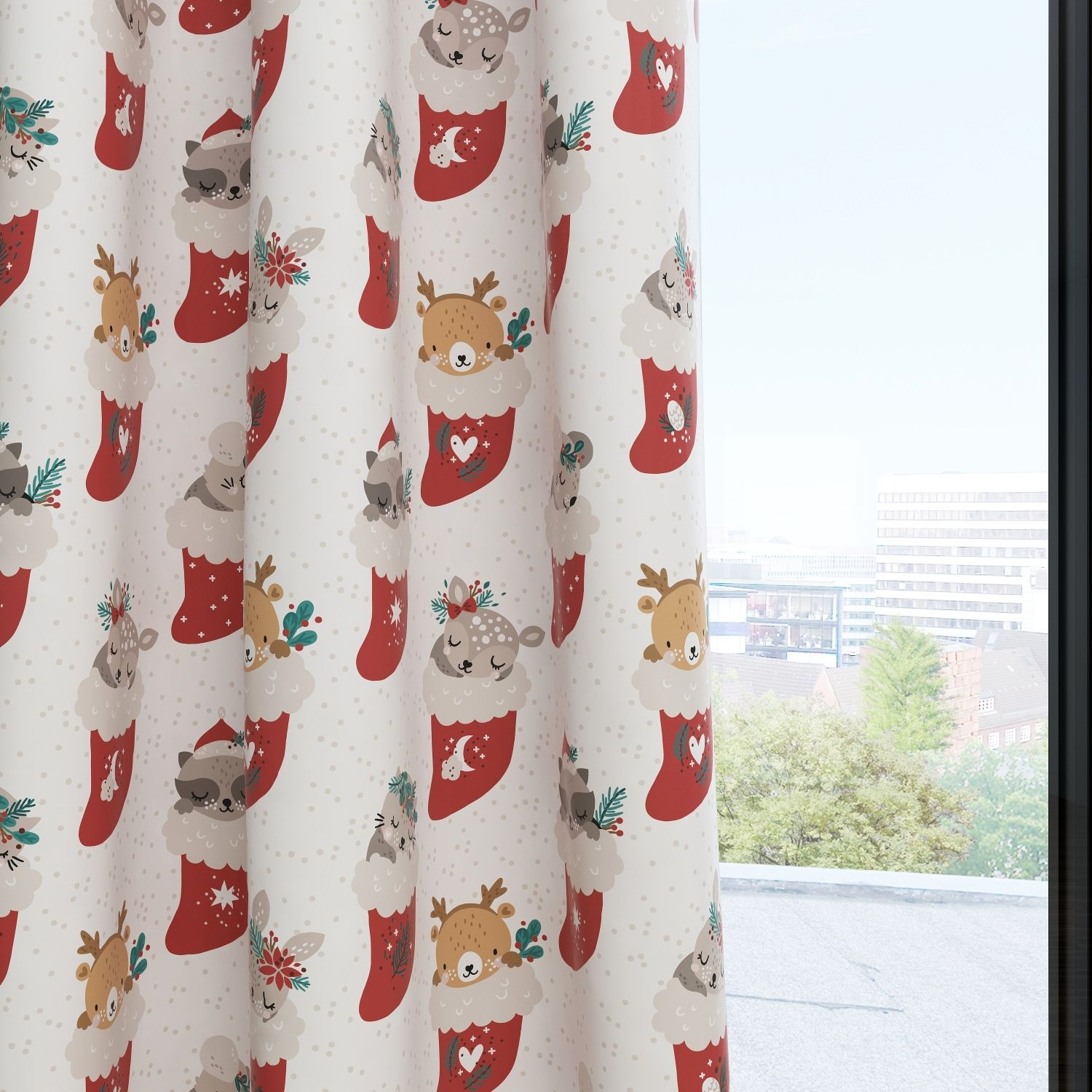 Kids & Nursery Blackout Curtains - Deer Santa