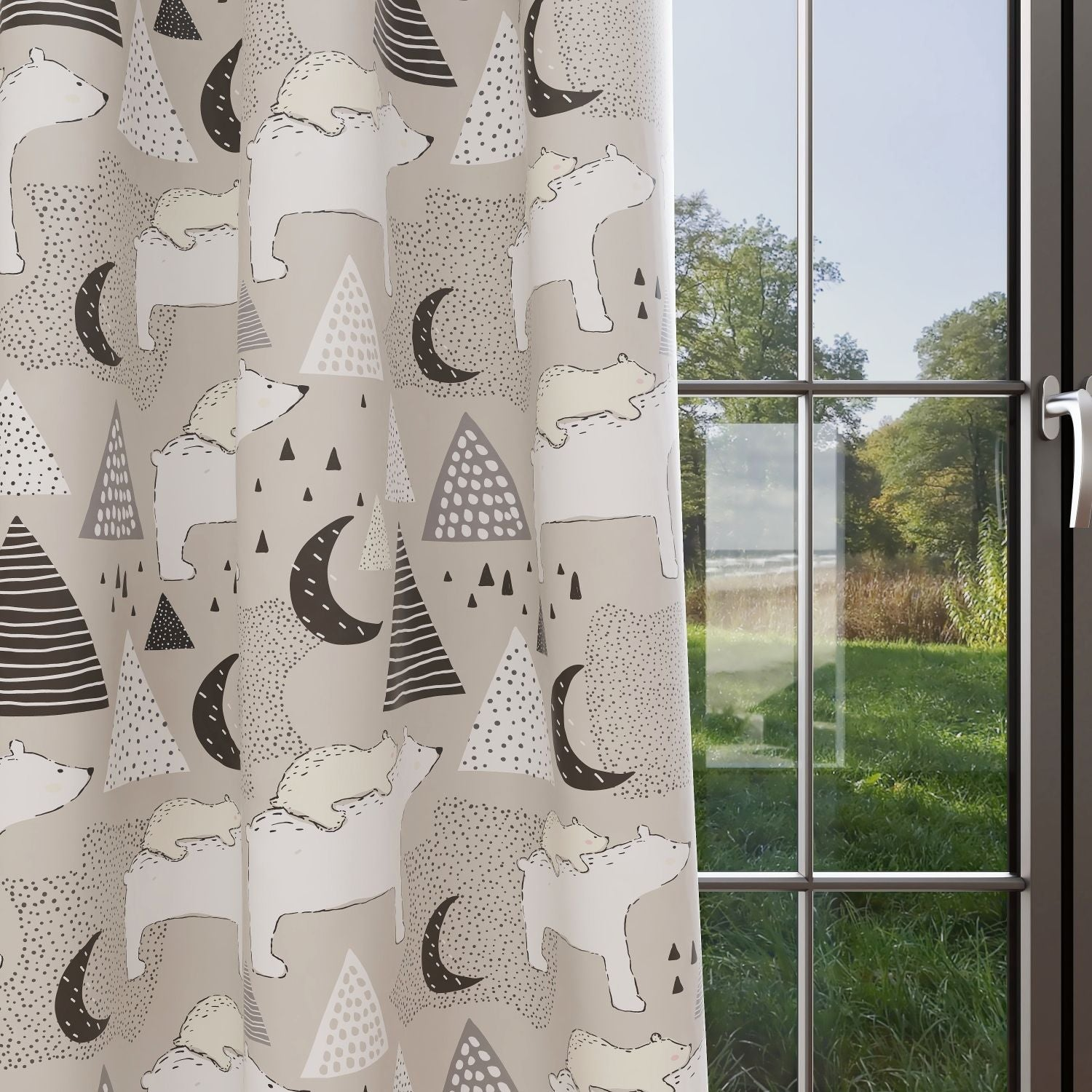 Bear Kids & Nursery Blackout Curtains - Em-BEARace