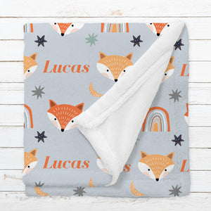Personalized Fox Blanket for Babies, Toddlers and Kids - Gone In The Wild
