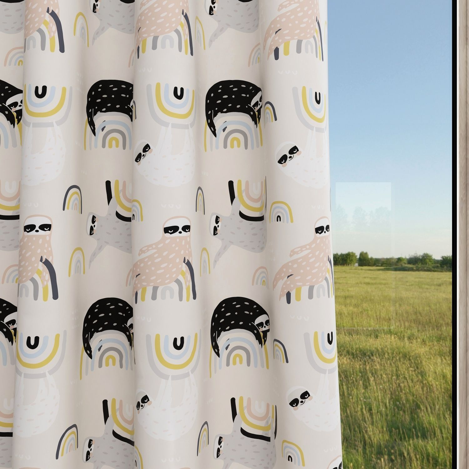 Sloth Kids & Nursery Blackout Curtains - Hang in There
