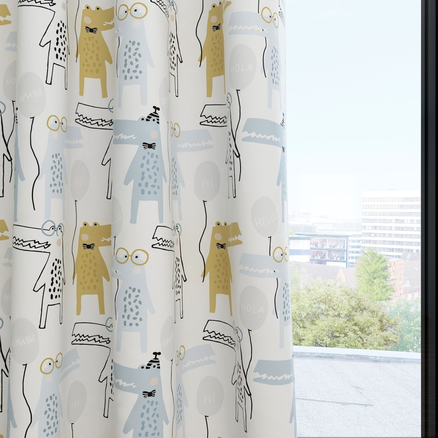 Crocodile Kids & Nursery Blackout Curtains - Hi Time