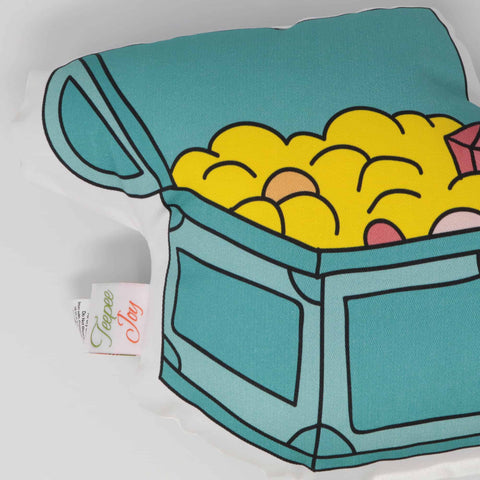 Forgotten Gems - Treasure Chest Throw Pillow