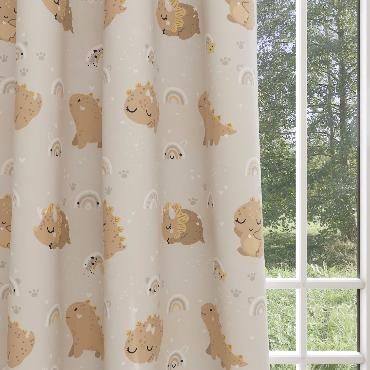 Dinosaur Kids & Nursery Blackout Curtains - Lights Out