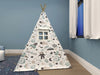 Kids Teepee, Space Decor Themed Room - Launch To Space Collection