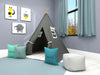 Space In Gray Kids Teepee