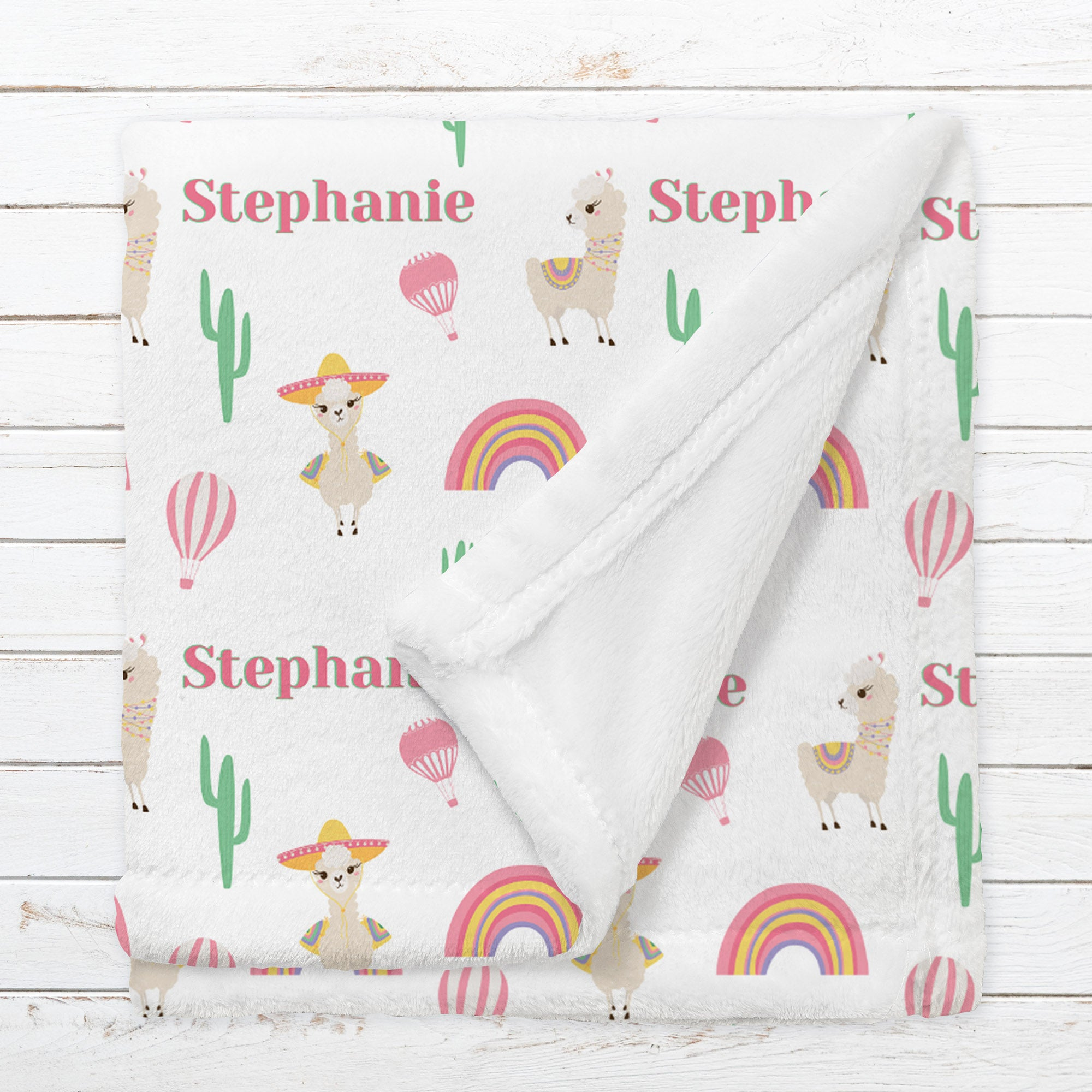 Personalized Llama Blanket for Babies, Toddlers and Kids - Llama's Picnic