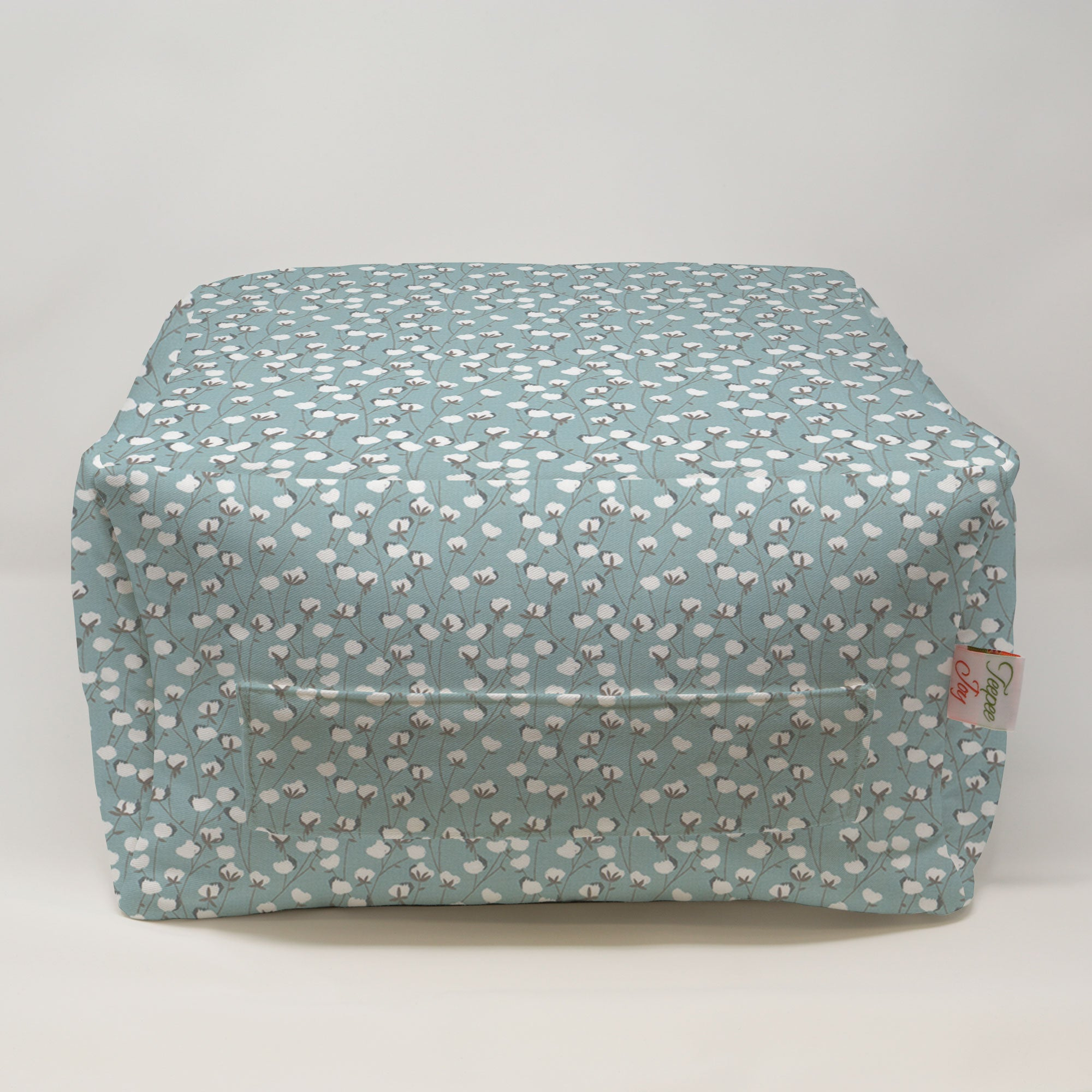 Kids Pouf - Cotton Belt Spa Blue
