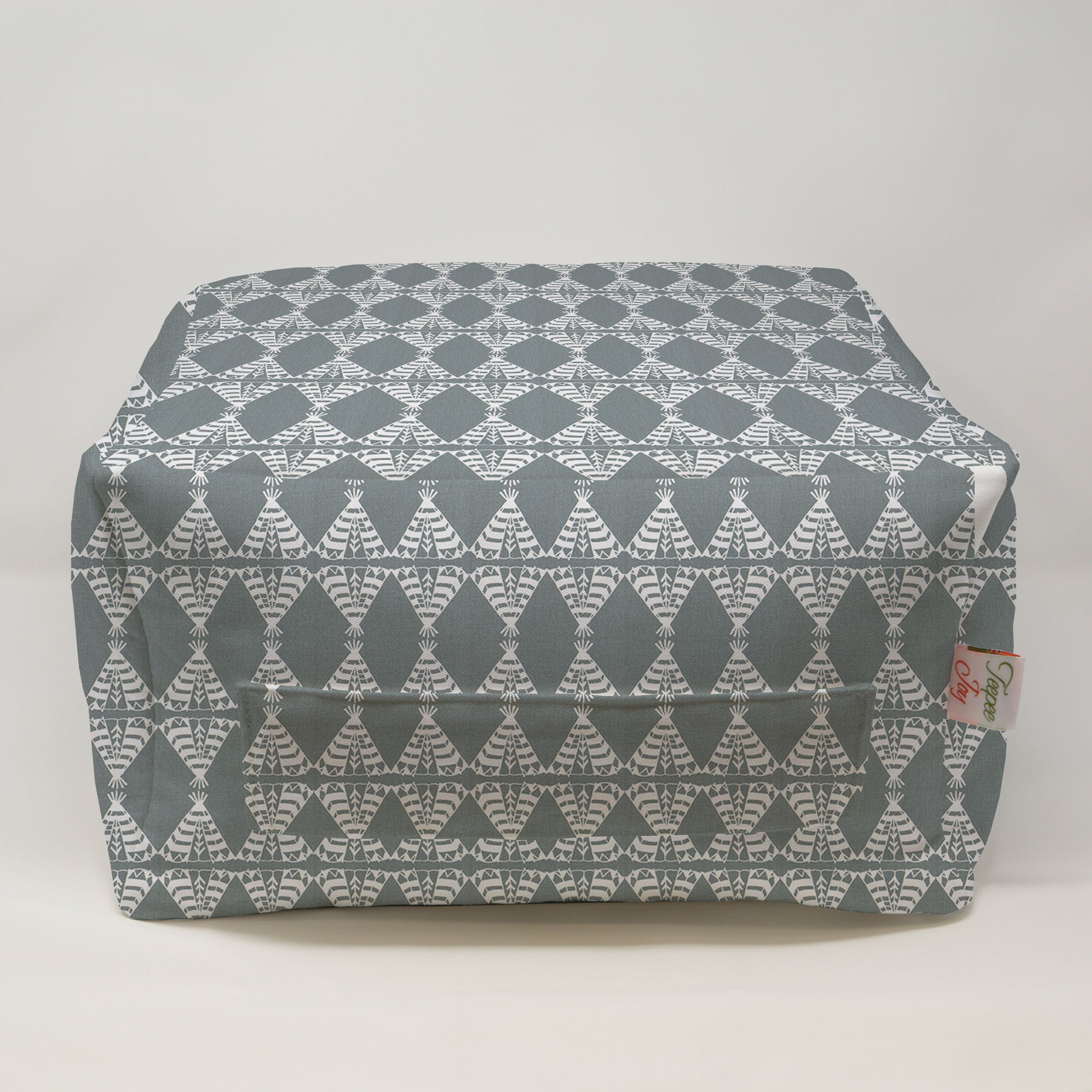 Kids Pouf - Pow Wow Sundown Gray