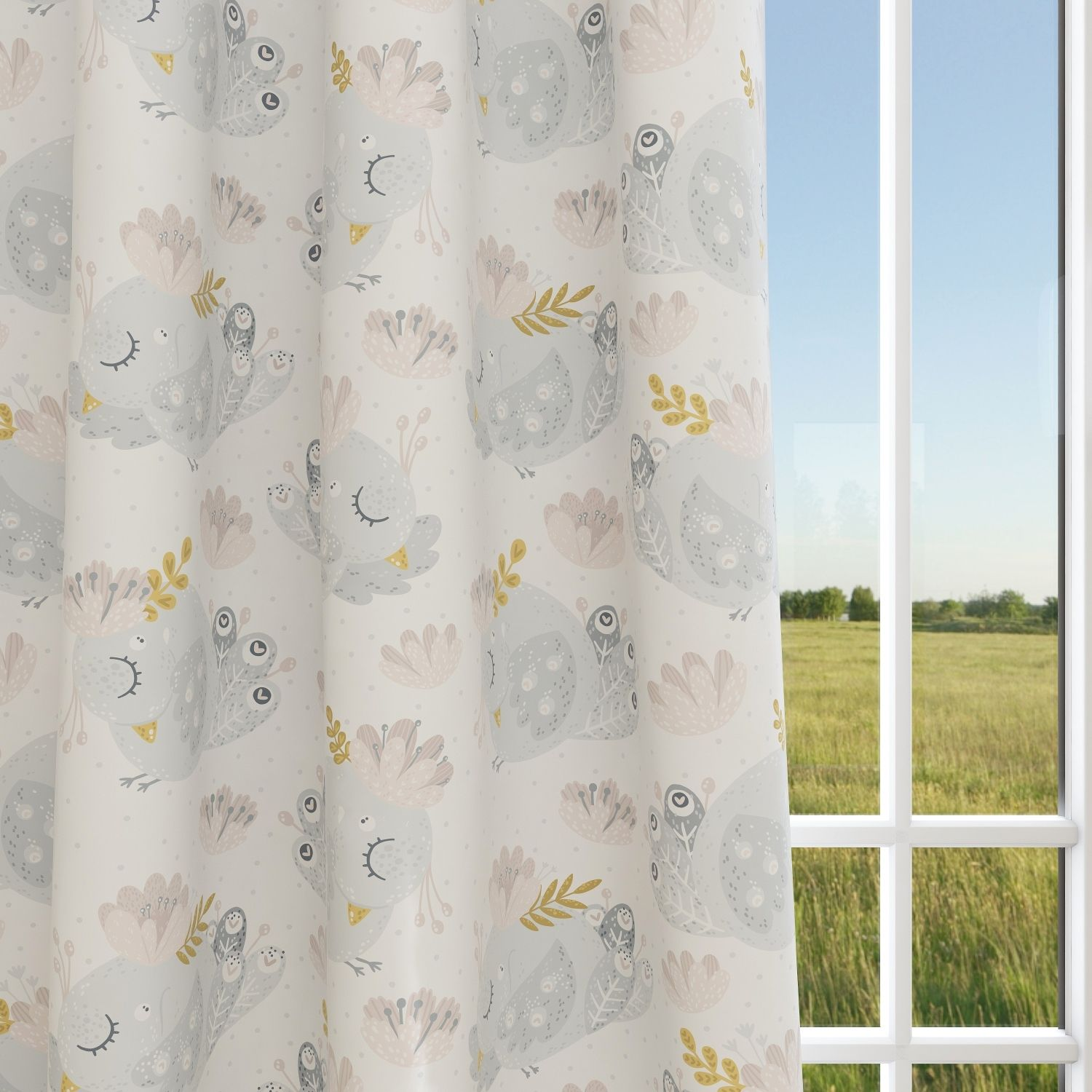 Birds Kids & Nursery Blackout Curtains - Quirky Pheasants