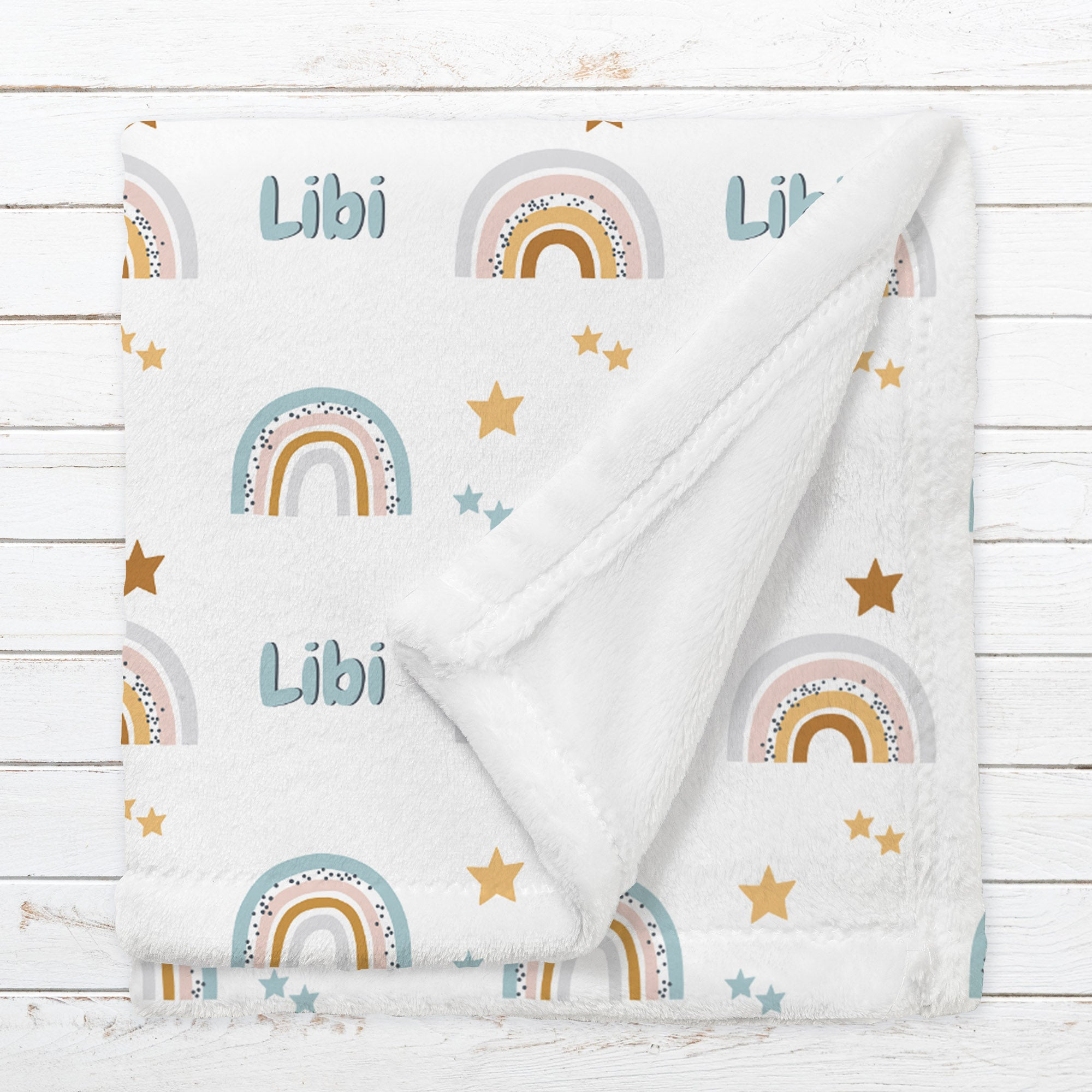 Personalized Rainbow Blanket for Babies, Toddlers and Kids - Follow the Rainbow