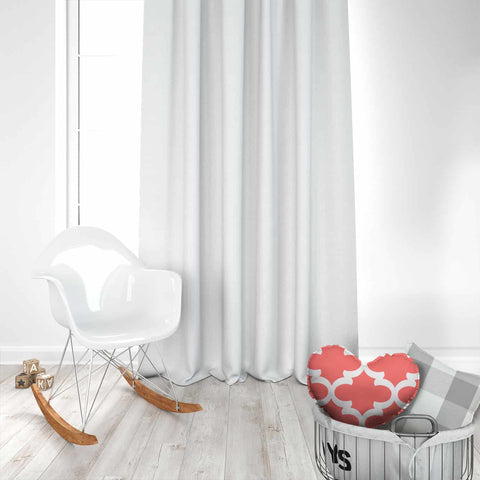 Twill White Kids Curtains