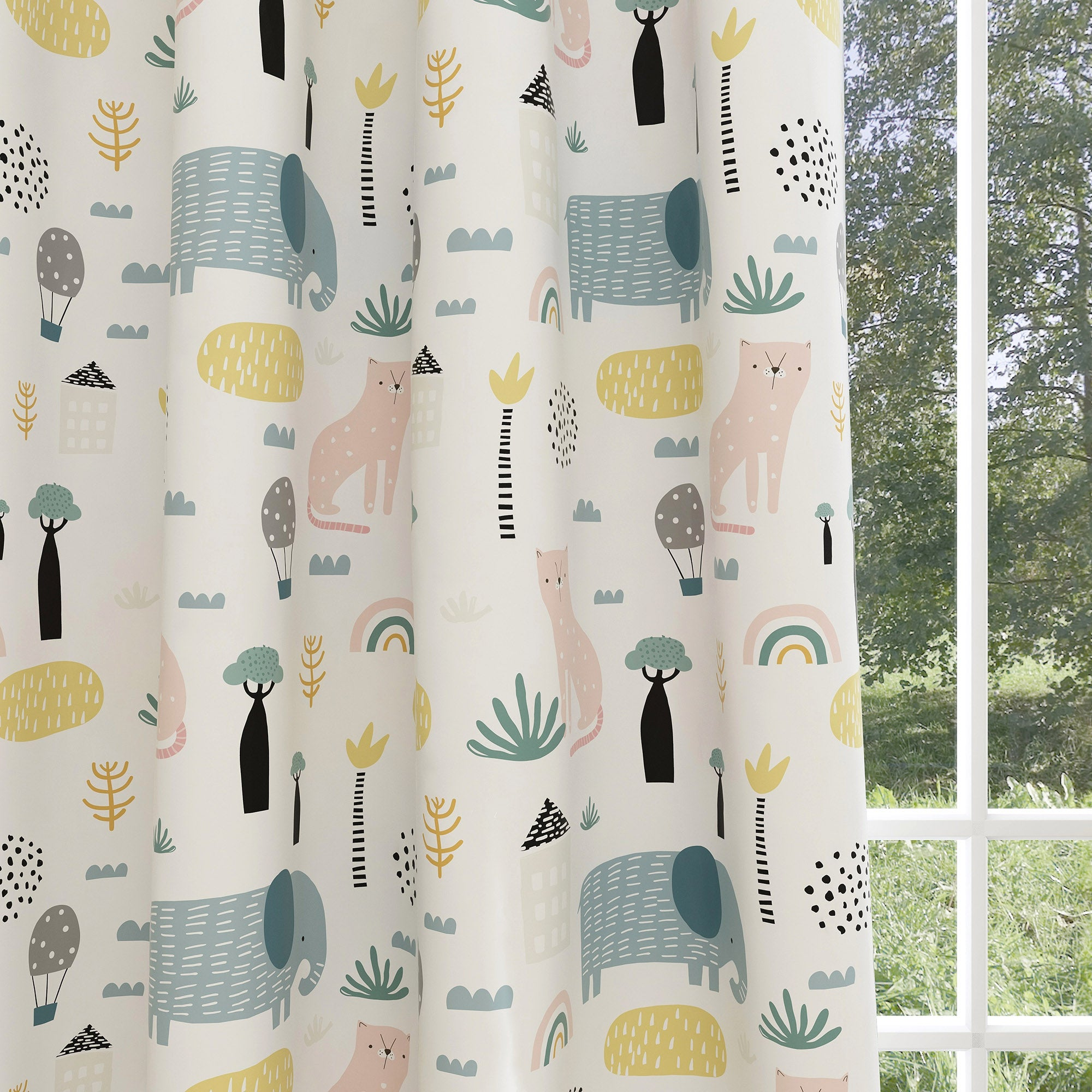 Animals Kids & Nursery Blackout Curtains - Walk in the Jungle