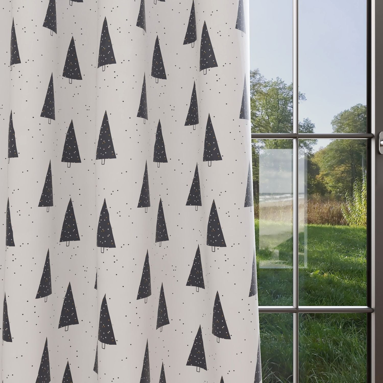 Trees Kids & Nursery Blackout Curtains - Winter Wishes