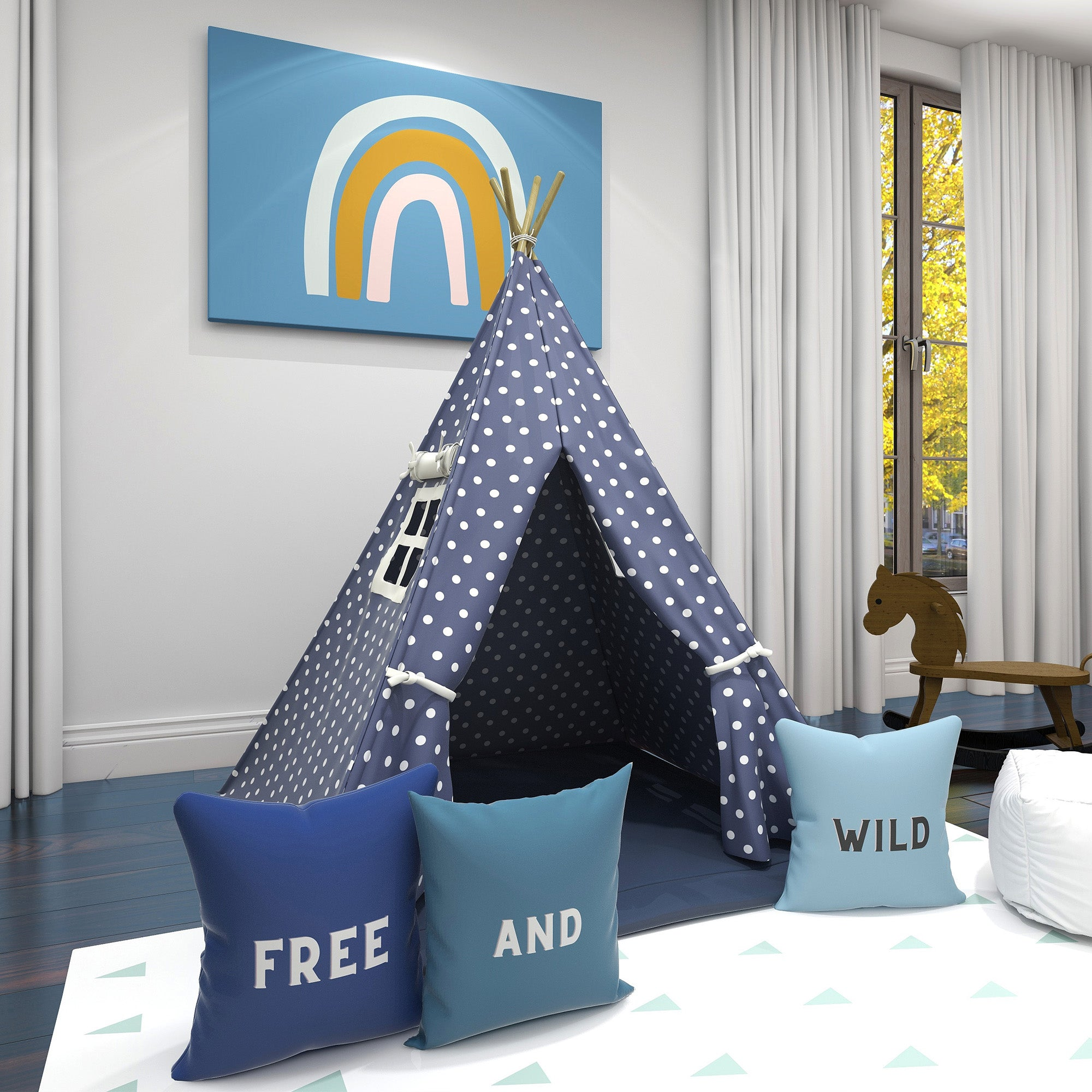 Sugar Blue Kids Teepee
