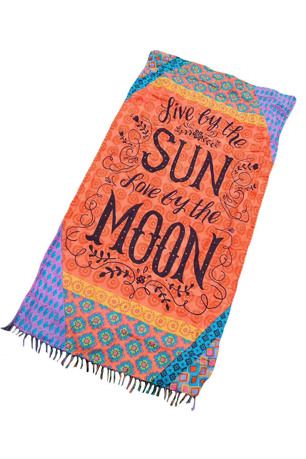 Live by the Sun Live by the Moon Beach Blanket