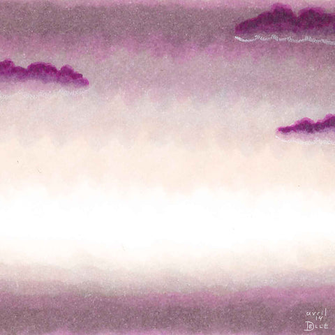 picture of violet morning sky with purple clouds