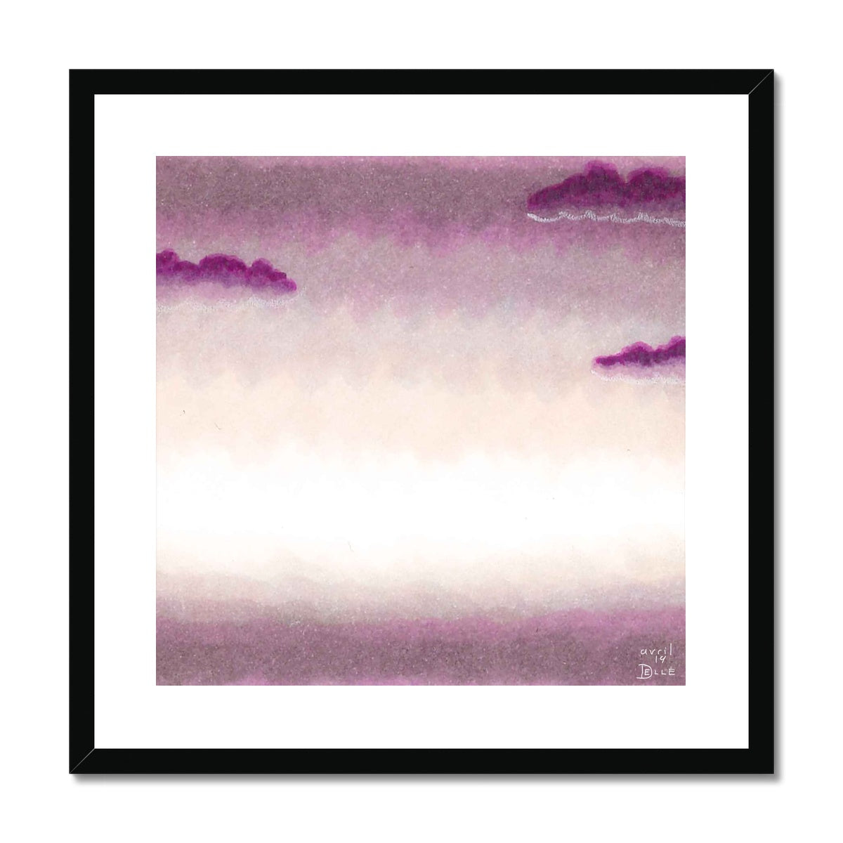 Violet Morning Framed & Mounted Print