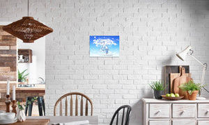 Azure Dragon of the Heavens Canvas Print in editorial (dining room), wrap: white, size: 12x18""