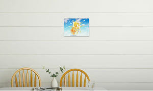 Golden Sun Dragon Canvas Print in room (kitchen), wrap: white, size: 12x18""