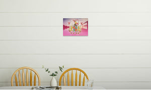 Waterside Canalsell Canvas Print in room (kitchen), wrap: white, size: 12x18""