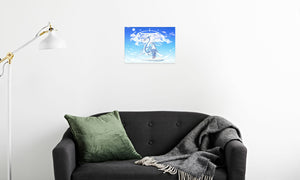 Azure Dragon of the Heavens Canvas Print in room (sofa), wrap: white, size: 12x18""