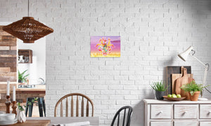 Summer Scarhys Canvas Print in editorial (dining room), wrap: white, size: 12x18""