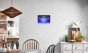 Weathermere Starpoint Canvas Print in editorial (dining room), wrap: white, size: 12x18""