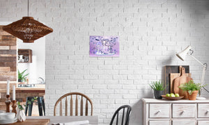 Electric Storm Dragon Canvas Print in editorial (dining room), wrap: white, size: 12x18""