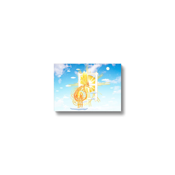Golden Sun Dragon Canvas Print in head on, wrap: white, size: 12x18""