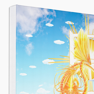 Golden Sun Dragon Canvas Print in corner, wrap: white, size: 12x18""