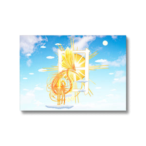 Golden Sun Dragon Canvas Print in fixedflat, wrap: white, size: 12x18""