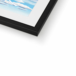 Fire Wind and Lightning; Sun Moon and Heavens Framed & Mounted Print in closeup, black frame, mounted, perspex, size: 17x24""