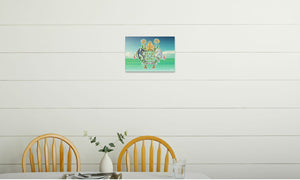 Abbeysfold Fields and Clouds Canvas Print in room (kitchen), wrap: white, size: 12x18""