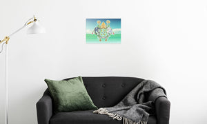 Abbeysfold Fields and Clouds Canvas Print in room (sofa), wrap: white, size: 12x18""