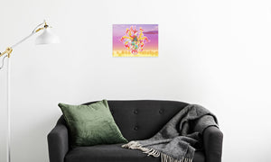 Summer Scarhys Canvas Print in room (sofa), wrap: white, size: 12x18""